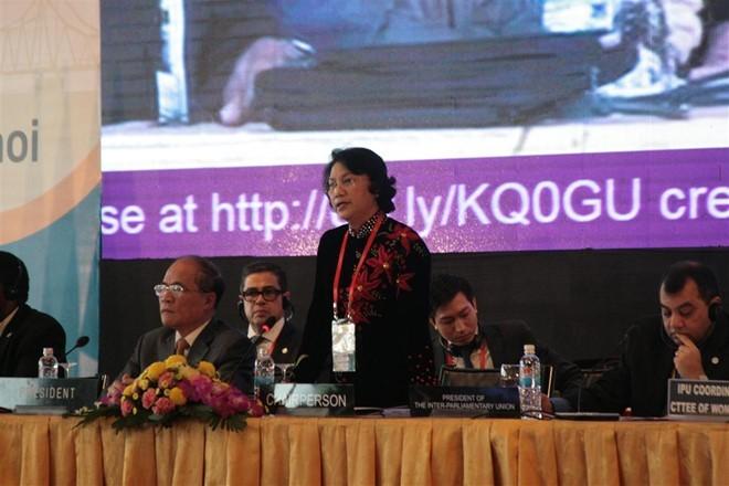 Phó Chủ tịch Quốc hội Việt Nam Nguyễn Thị Kim Ngân là Chủ tịch Hội nghị nữ nghị sĩ IPU lần thứ 21