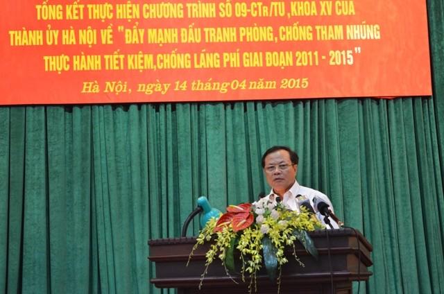 Bí thư Thành ủy Phạm Quang Nghị phát biểu tại hội nghị (Ảnh: Phú Khánh)