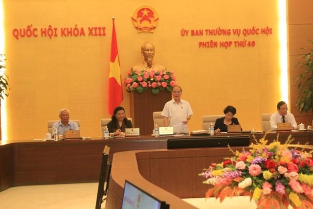 Ủy ban Thường vụ Quốc hội thảo luận về Luật tổ chức cơ quan điều tra hình sự sáng 17-8