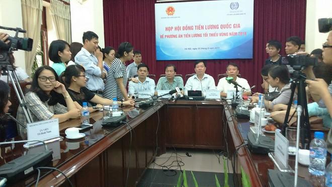 Hội đồng Tiền lương chia sẻ với báo chí về kết quả cuối cùng của phiên thương lượng