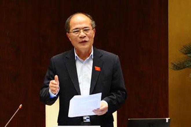 Chủ tịch Quốc hội Nguyễn Sinh Hùng phát biểu khai mạc phiên chất vấn