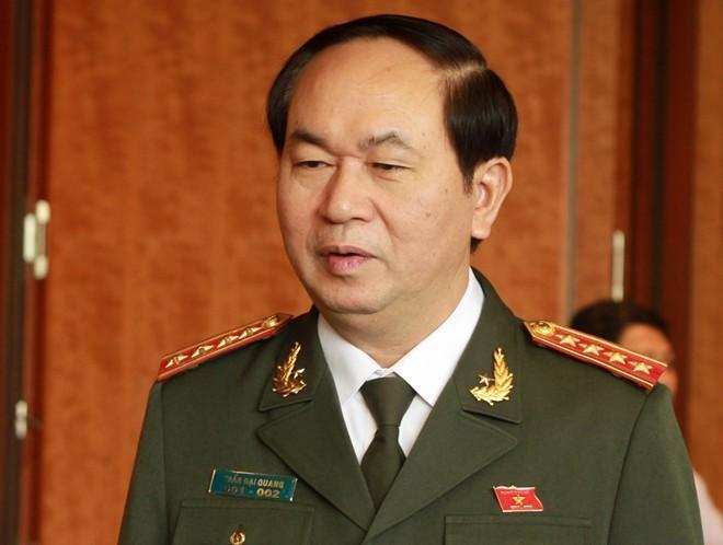Đại tướng Trần Đại Quang - Bộ trưởng Bộ Công an cảnh báo tình trạng chống người thi hành công vụ có hướng gia tăng (ảnh minh họa)