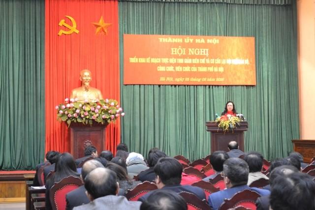 Thành ủy Hà Nội tổ chức hội nghị triển khai Nghị quyết 39 của Bộ Chính trị, sáng 25-2