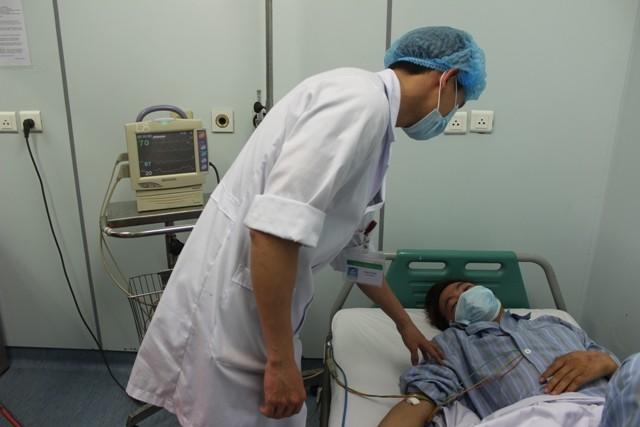 Bệnh nhân Nguyễn Văn V. đang được cách ly điều trị tại bệnh viện