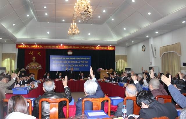 100% đại biểu dự Hội nghị hiệp thương lần 2 biểu quyết thông qua danh sách 197 người được Trung ương giới thiệu ứng cử ĐBQH