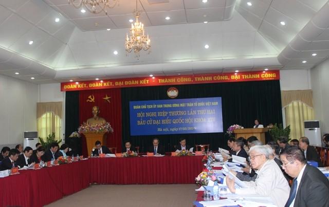 Ủy ban Trung ương MTTQ Việt Nam hiệp thương lần 2 lập danh sách sơ bộ người ứng cử ĐBQH