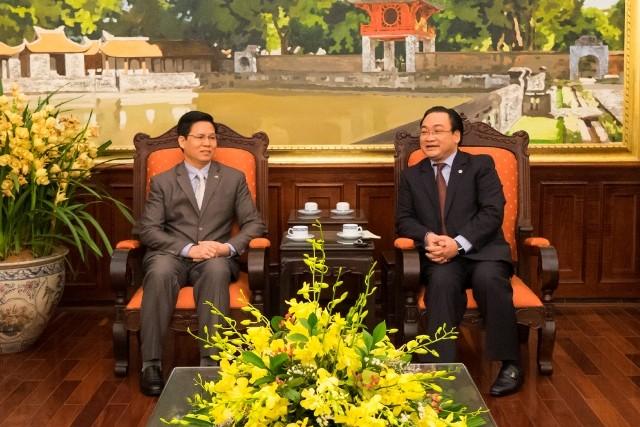 Bí thư Thành ủy Hà Nội Hoàng Trung Hải tiếp đại diện Tổng hội - Hội thánh tin lành Việt Nam (miền Bắc)