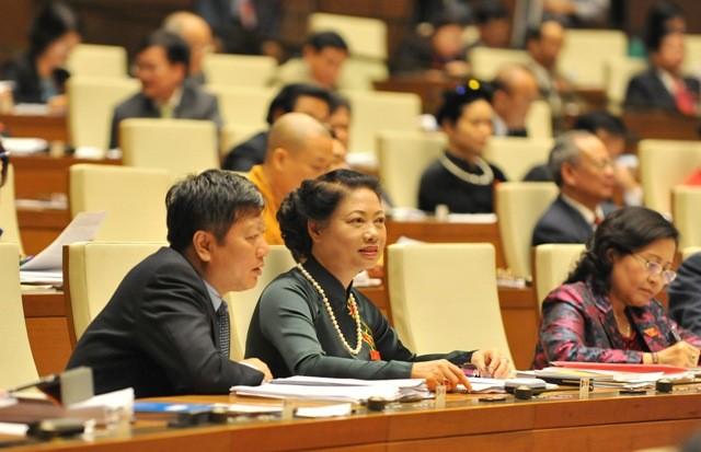 Các ĐBQH nghe báo cáo của Chính phủ về kế hoạch phát triển kinh tế - xã hội 2016-2020