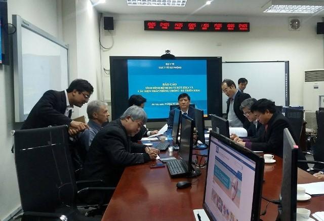 Một buổi làm việc của Bộ Y tế với các chuyên gia thế giới về virus zika do Thứ trưởng Nguyễn Thanh Long chủ trì