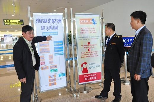 Hà Nội tăng cường các biện pháp giám sát, phòng chống bệnh zika tại sân bay Nội Bài