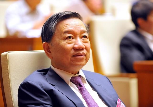 Thượng tướng Tô Lâm đã được Quốc hội phê chuẩn bổ nhiệm giữ chức Bộ trưởng Bộ Công an (Ảnh: Phú Khánh)