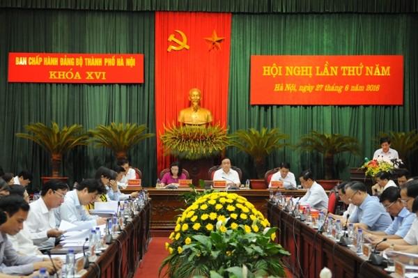 Hội nghị lần thứ năm Ban Chấp hành Đảng bộ TP Hà Nội khai mạc sáng nay, 27-6