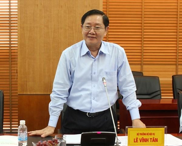 Bộ trưởng Bộ Nội vụ Lê Vĩnh Tân đề nghị đẩy mạnh hơn nữa việc tinh giản biên chế