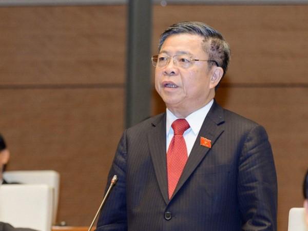 ĐBQH Võ Kim Cự, nguyên Bí thư, Chủ tịch UBND tỉnh Hà Tĩnh - người có dấu ấn lớn trong việc cấp phép cho Formosa vào đầu tư 70 năm tại Hà Tĩnh - phát biểu tại hội trường Quốc hội