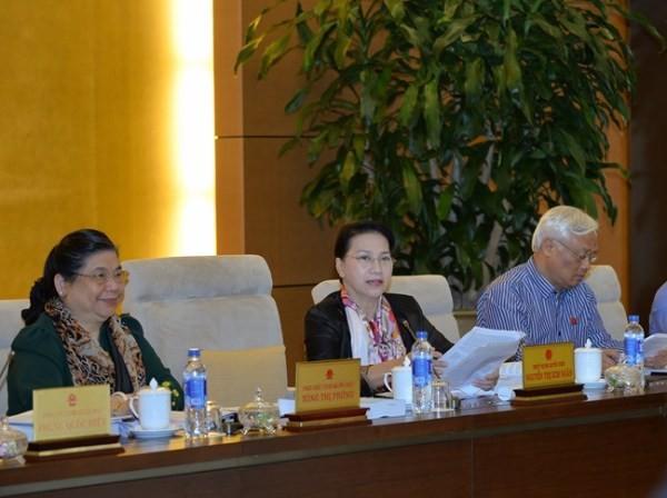 Chủ tịch Quốc hội Nguyễn Thị Kim Ngân điều hành phiên thảo luận