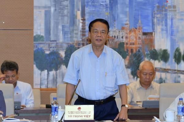 Chủ nhiệm Ủy ban Quốc phòng An ninh của Quốc hội Võ Trọng Việt phát biểu