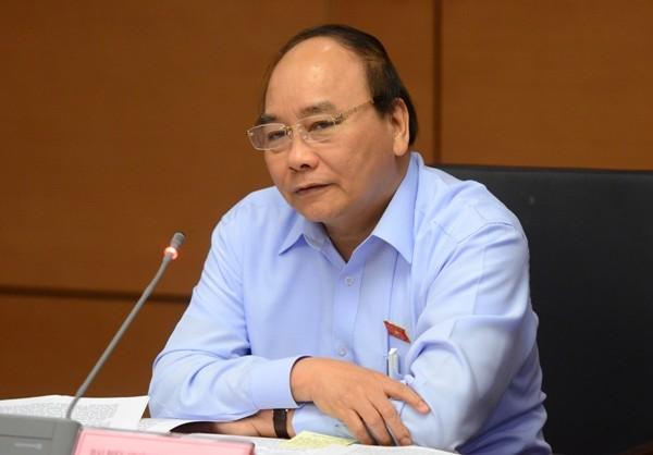 Thủ tướng Chính phủ Nguyễn Xuân Phúc phát biểu thảo luận tổ tại Quốc hội sáng 22-10