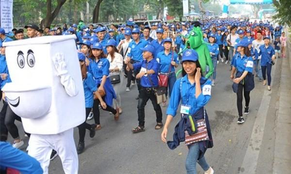 """3.000 thanh niên hưởng ứng hoạt động """"Cùng chạy bộ để giúp trẻ em"""