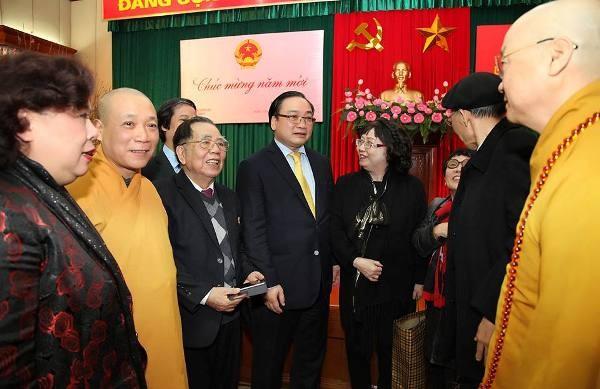 Bí thư Thành ủy Hà Nội Hoàng Trung Hải gặp mặt thân mật các văn nghệ sĩ, trí thức,