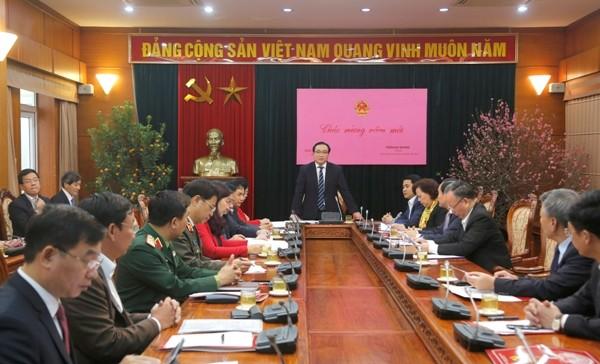 Bí thư Thành ủy Hà Nội Hoàng Trung Hải chỉ đạo những việc cần làm ngay đầu xuân mới