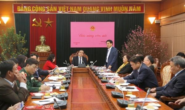 Chủ tịch UBND TP Hà Nội Nguyễn Đức Chung nêu những điểm mới, nổi bật trong công tác tổ chức, chăm lo Tết Đinh Dậu 2017 trên địa bàn Thủ đô