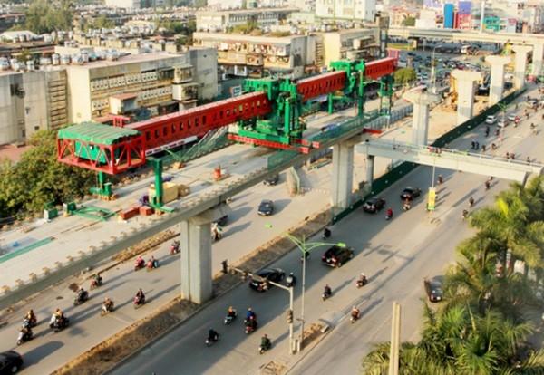 Các dự án đường sắt đô thị ở Hà Nội đều gặp nhiều khó khăn trong quá trình thi công