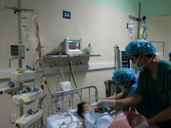 Bệnh nhi N.T.H sau ca ghép tim đã ổn định và đang được theo dõi tại Bệnh viện Việt Đức