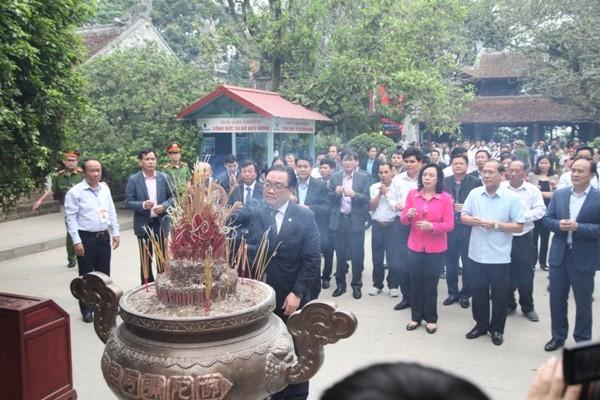 Bí thư Thành ủy Hà Nội Hoàng Trung Hải dẫn đầu đoàn đại biểu TP Hà Nội