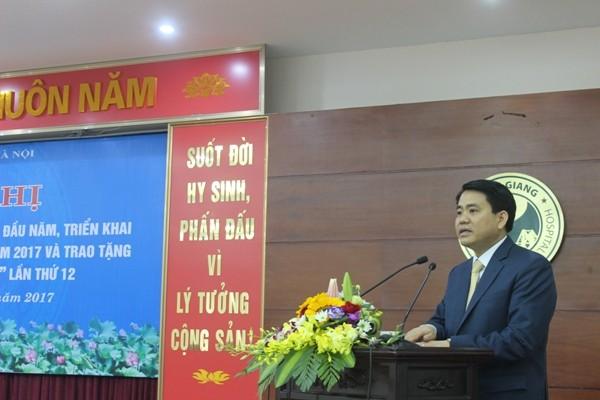 Chủ tịch UBND TP Nguyễn Đức Chung phát biểu chỉ đạo và gợi mở hướng đi mới