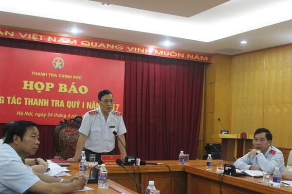Phó Tổng Thanh tra Chính phủ Ngô Văn Khánh trả lời câu hỏi về vụ việc ở xã Đồng Tâm