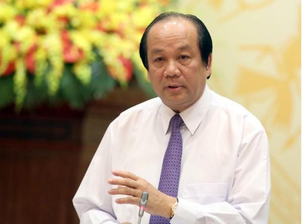 Bộ trưởng - chủ nhiệm VPCP Mai Tiến Dũng chủ trì buổi họp báo chiều 4-5