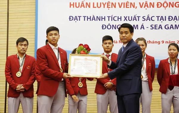 Hà Nội tặng Bằng khen, thưởng mỗi vận động viên đoạt Huy chương vàng SEA Games 55 triệu đồng ảnh 3