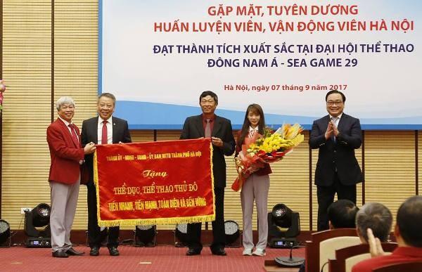 Hà Nội tặng Bằng khen, thưởng mỗi vận động viên đoạt Huy chương vàng SEA Games 55 triệu đồng ảnh 1