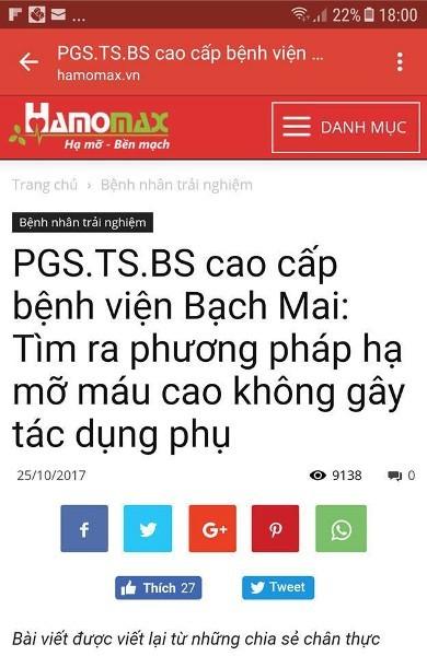 Cty CP phát triển thảo dược Việt Nam bị xử phạt vì vi phạm quy định