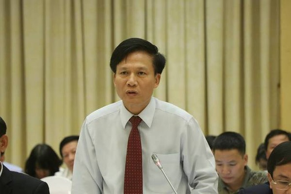 Phó Tổng Thanh tra Chính phủ Bùi Ngọc Lam trả lời tại buổi họp báo Chính phủ