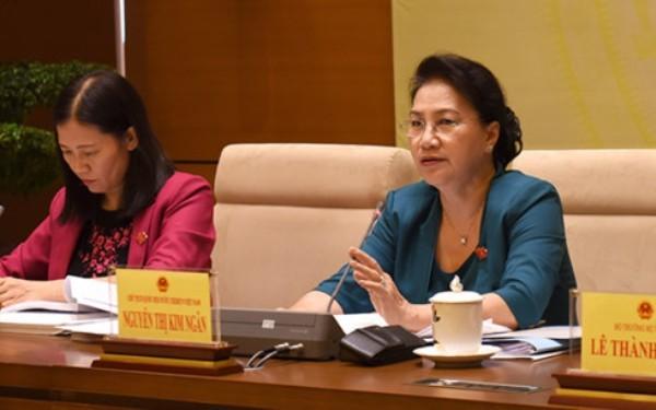 Chủ tịch Quốc hội Nguyễn Thị Kim Ngân đề nghị