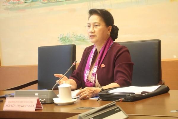 Chủ tịch Quốc hội Nguyễn Thị Kim Ngân phát biểu thảo luận tổ tại QH sáng 14-11