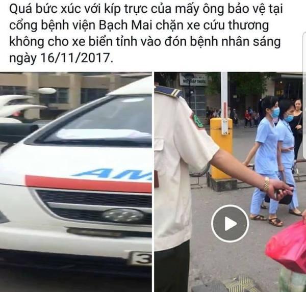 Hình ảnh đoạn clip đăng tải trên mạng xã hội facebook được lan truyền