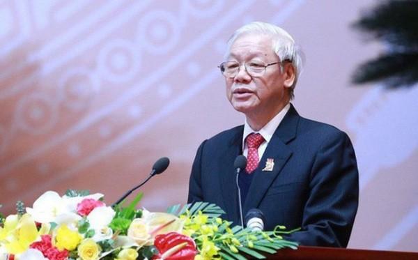 Tổng Bí thư Nguyễn Phú Trọng phát biểu tại phiên họp