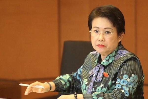 Bà Phan Thị Mỹ Thanh trong một phiên thảo luận tổ tại Quốc hội