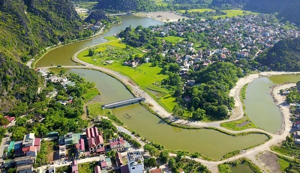 Một khúc sông Sào Khê (Ninh Bình) nằm trong dự án nạo vét, bảo tồn cảnh quan