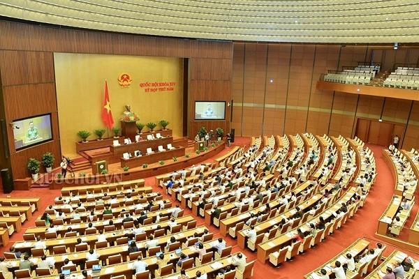 Toàn cảnh một phiên họp tại kỳ họp thứ 5-Quốc hội khóa XIV