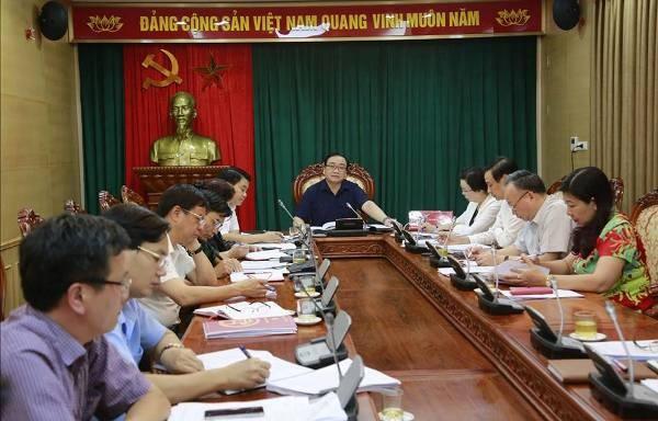 Bí thư Thành ủy Hoàng Trung Hải chủ trì buổi làm việc chiều 18-6
