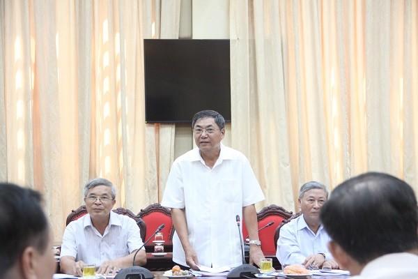 Nguyên Phó Bí thư Thường trực Thành ủy Hà Nội Nguyễn Công Soái góp ý vào dự thảo