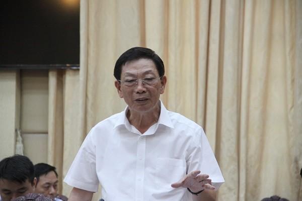 Nguyên Chủ tịch UBND TP Hà Nội Nguyễn Thế Thảo phát biểu góp ý tại hội nghị