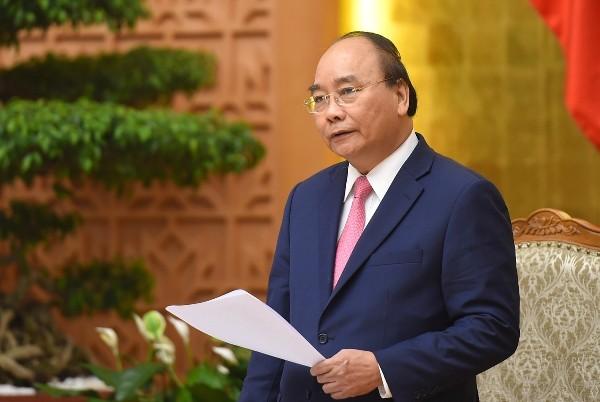 Thủ tướng Chính phủ Nguyễn Xuân Phúc phát biểu tại phiên họp (Ảnh VGP)