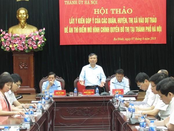 Thứ trưởng Bộ Nội vụ Nguyễn Trọng Thừa phát biểu về mô hình chính quyền đô thị