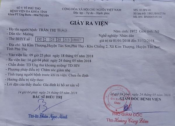 Một bệnh nhân ở xã Kim Thượng có kết quả nghi ngờ nhiễm HIV