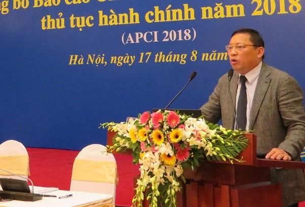 TS Ngô Hải Phan báo cáo về kết quả xếp hạng APCI 2018