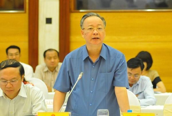 Phó Chủ tịch Thường trực UBND TP Hà Nội Nguyễn Văn Sửu trả lời tại buổi họp báo chiều 1-10